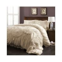 Ruffled Comforter Set Bedding Shabby Floral Chic Ruched ...