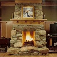 How to Build a Fireplace Wood Burning Make Gas Log Ceramic ...