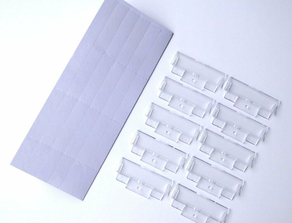 50 Suspension File Inserts  Clear Plastic Tabs Filing