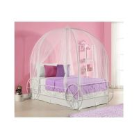 Twin Metal Cinderella Princess Pumpkin Carriage White Bed ...