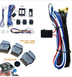 details about diy new dc 12v car power electric window switch with wire harness universal kits [ 1000 x 1000 Pixel ]