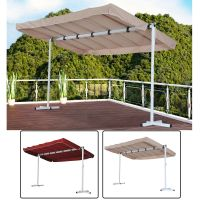 Outsunny Outdoor Gazebo Canopy Free Standing Shelter Rain ...