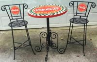 AUTHENTIC VINTAGE COCA-COLA WROUGHT IRON TYPE BAR OR PATIO ...