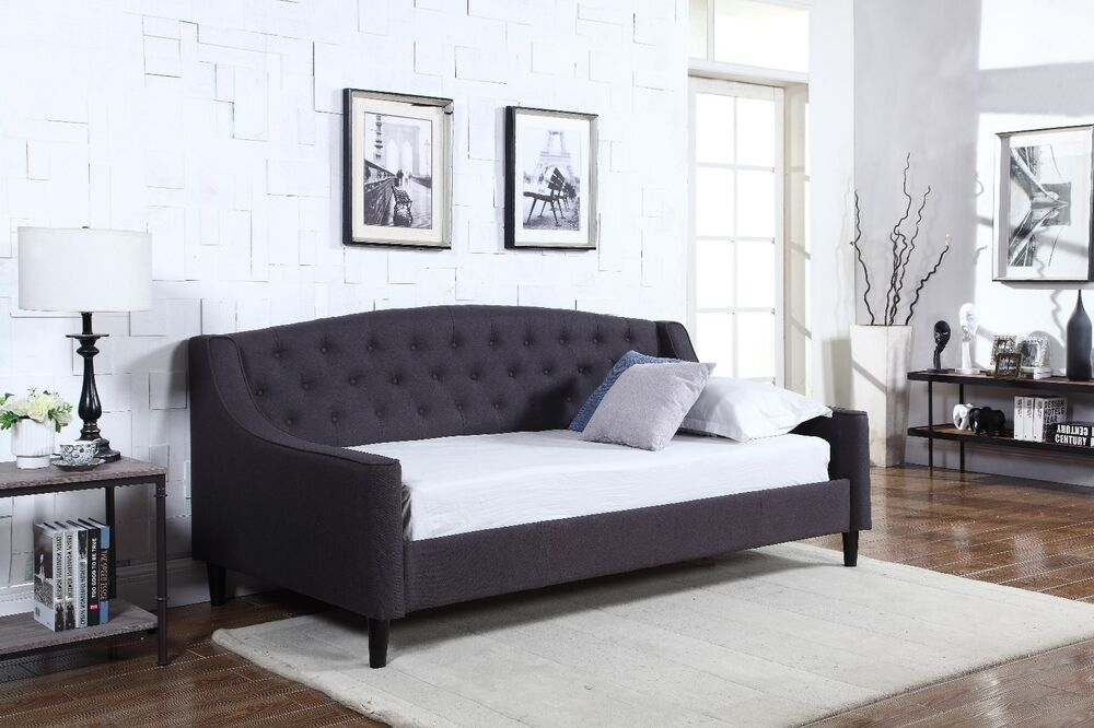 one sofa bed contemporary sofas sale new fabric dream daybed grey with wooden sprung slats base ...