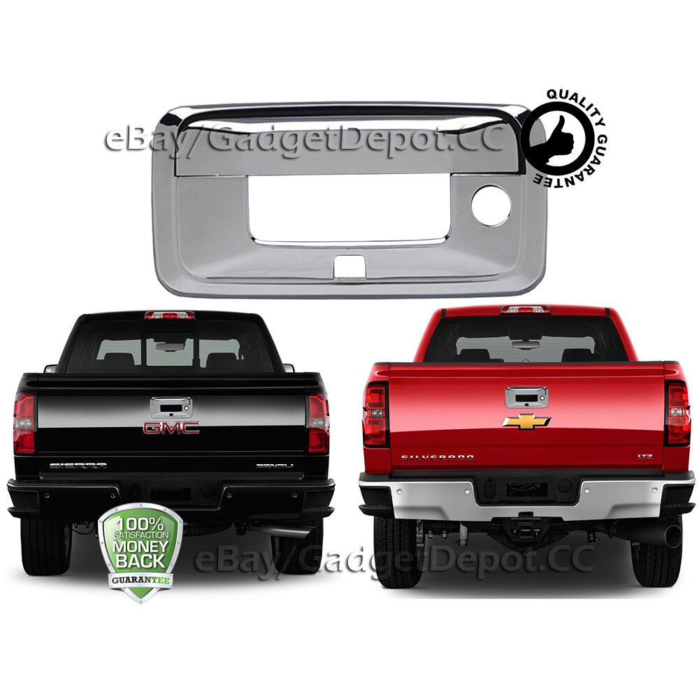 hight resolution of details about for 2015 2016 2017 chevrolet silverado gmc sierra chrome tailgate handle cover