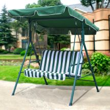 2 Person Canopy Swing Glider Hammock Patio Furniture