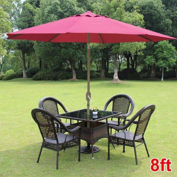 8ft Parasol Patio Table Outdoor Sun Shade Umbrella Market