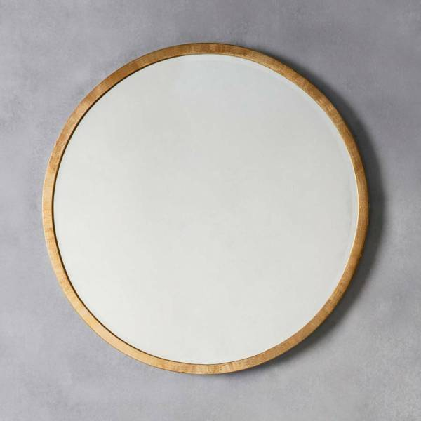 Antique Round Gold Wall Mirror