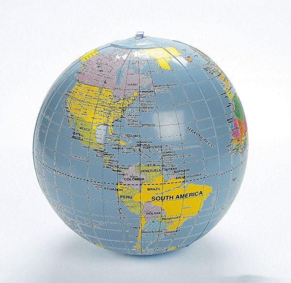 Inflatable World Globe Teacher Aid Educational Earth Map
