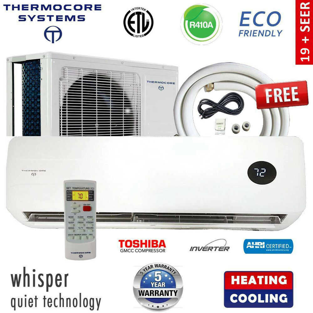 hight resolution of details about ductless mini split air conditioner inverter heat pump 16 seer w install kit