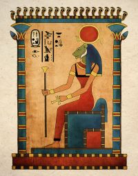 Ancient Egyptian Art Print Goddess Sekhmet Wall Decor | eBay