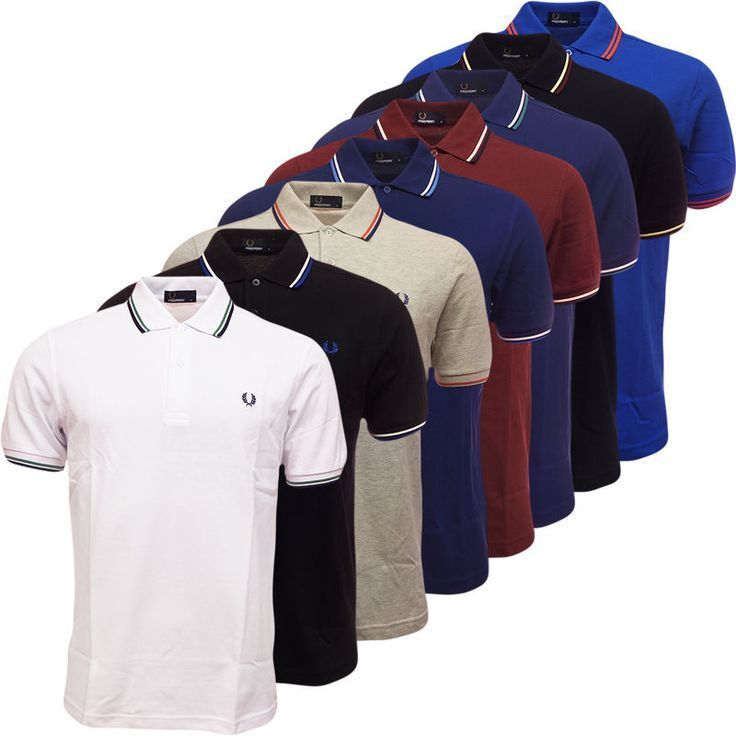 Fred Perry Polo M1200 Mens Fred Perry Twin Tipped Polo