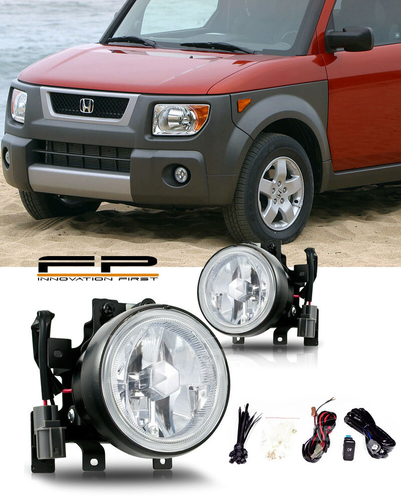 hight resolution of details about 2003 2006 honda element fog lights front lamps clear lens pair complete kit pair