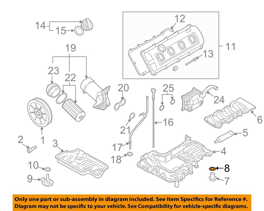 hight resolution of audi s4 engine diagram wiring diagramaudi oem 04 09 s4 engine parts drain plug washer n0138503