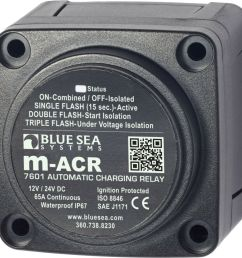 details about blue sea 7601 marine vsr acr automatic charge relay 65 a 12v 24v dc dual battery [ 1000 x 999 Pixel ]
