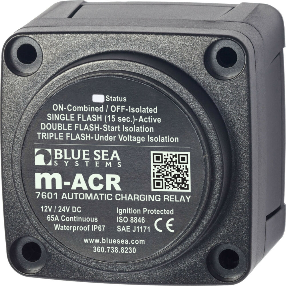 medium resolution of details about blue sea 7601 marine vsr acr automatic charge relay 65 a 12v 24v dc dual battery
