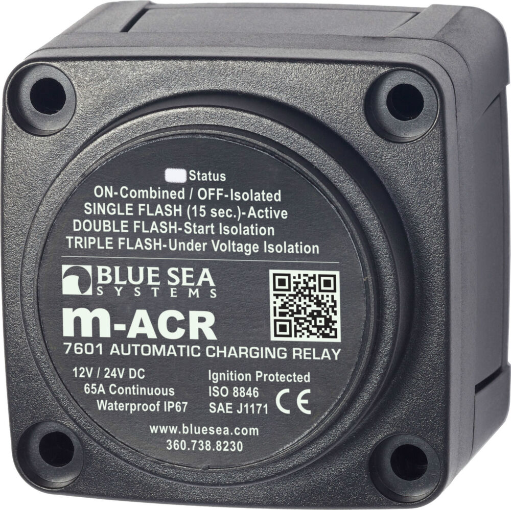 hight resolution of details about blue sea 7601 marine vsr acr automatic charge relay 65 a 12v 24v dc dual battery