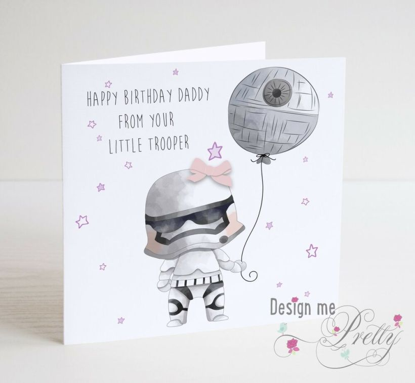 Star Wars Birthday Card For Dad From Your Little Trooper Daddy
