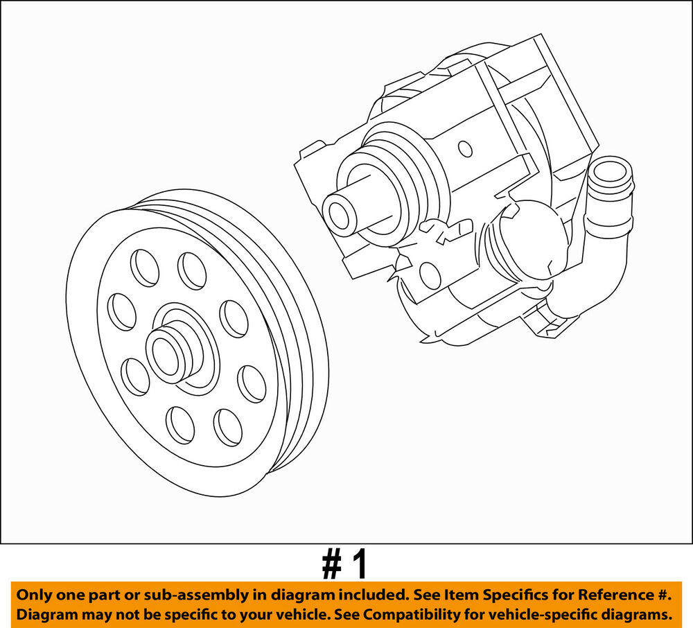 hight resolution of details about ford oem 11 16 f 350 super duty power steering pump bc3z3a696c