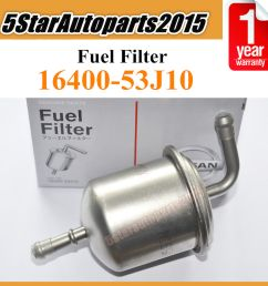 details about new fuel filter 16400 53j10 for nissan altima pickup stanza 2 4 infiniti j30 3 0 [ 1000 x 1000 Pixel ]