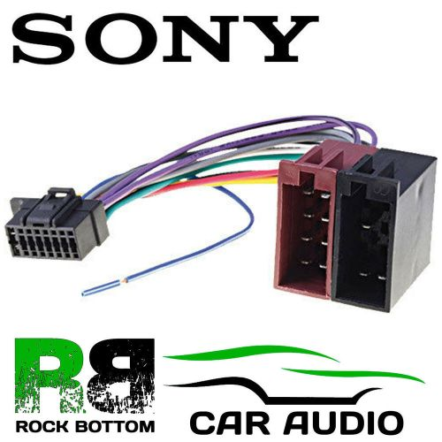 small resolution of sony dsx a400bt car radio stereo 16 pin wiring harness loom iso lead adaptor ebay