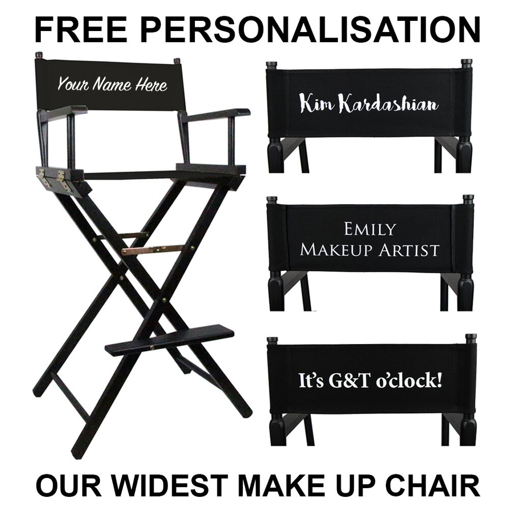 personalized makeup artist chair walmart folding lounge personalised saubhaya premium tall portable with free personalisation