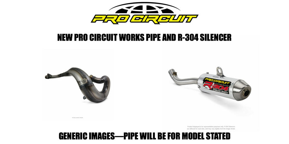 PRO CIRCUIT FULL EXHAUST WORKS PIPE + R304 SHORTY SILENCER