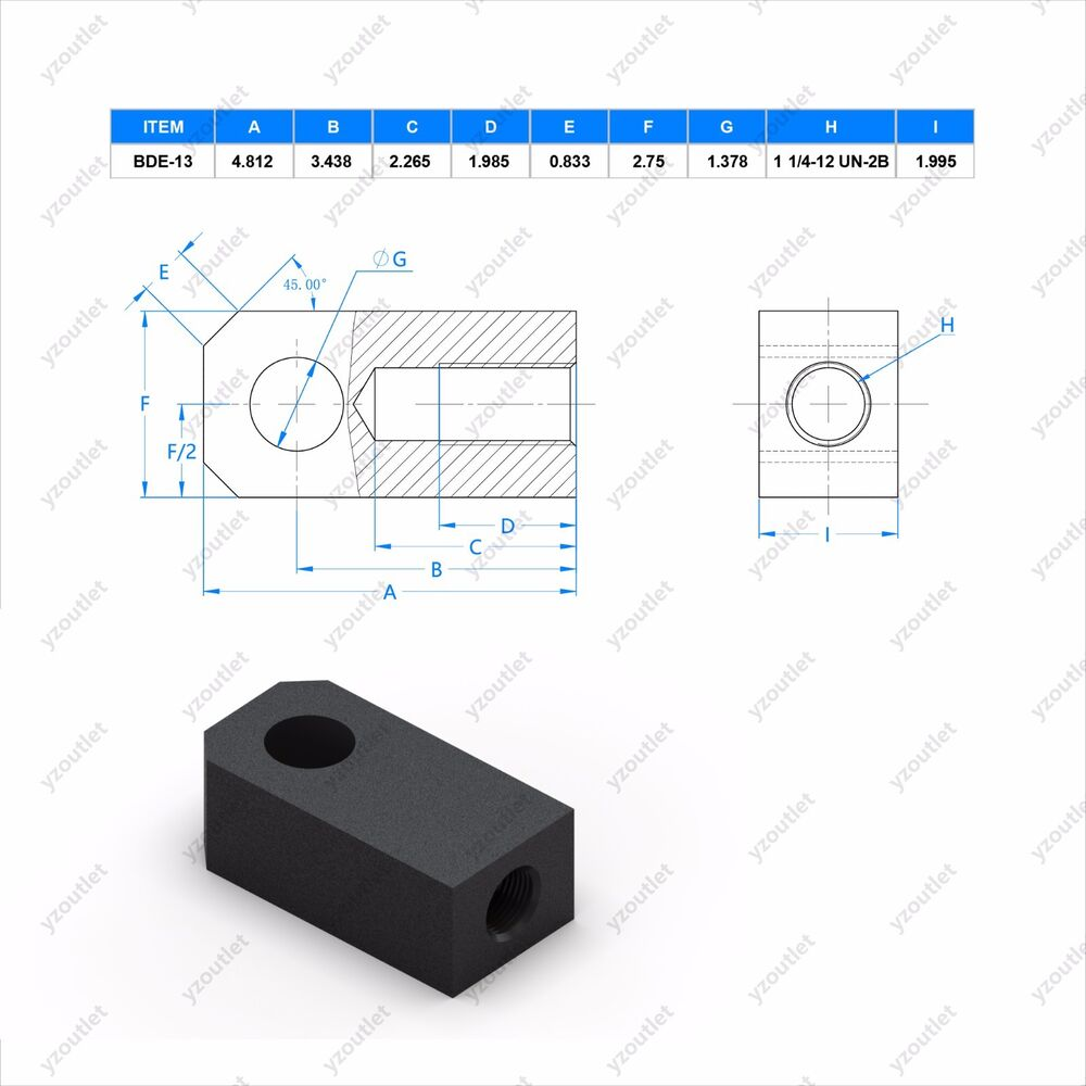 hight resolution of details about bde 13 steel rod eye