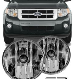 details about 07 08 09 10 11 12 ford escape clear replacement fog light housing assembly pair [ 800 x 1000 Pixel ]
