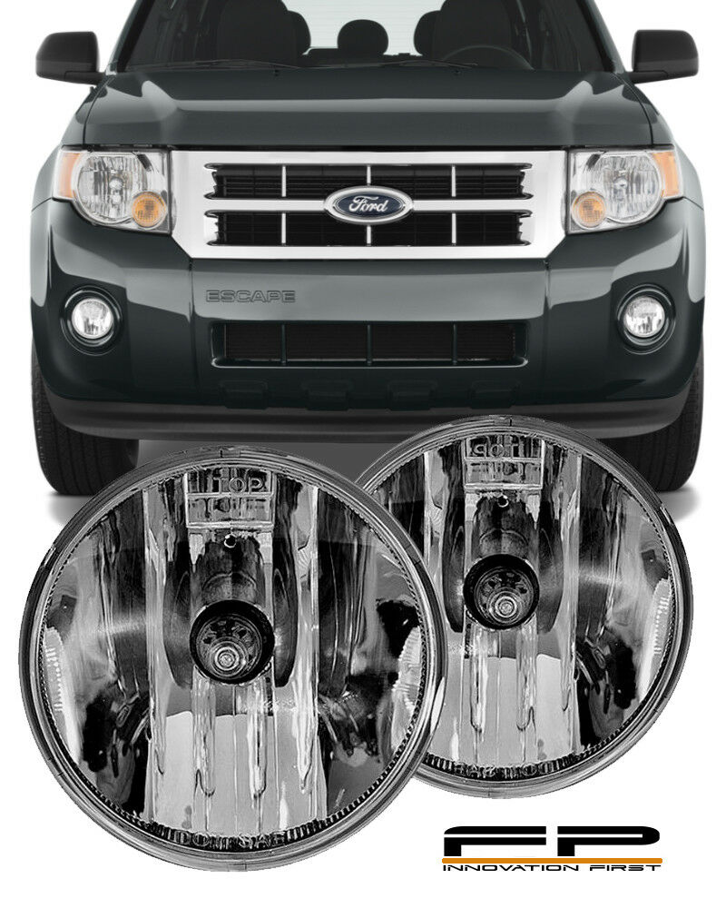 hight resolution of details about 07 08 09 10 11 12 ford escape clear replacement fog light housing assembly pair