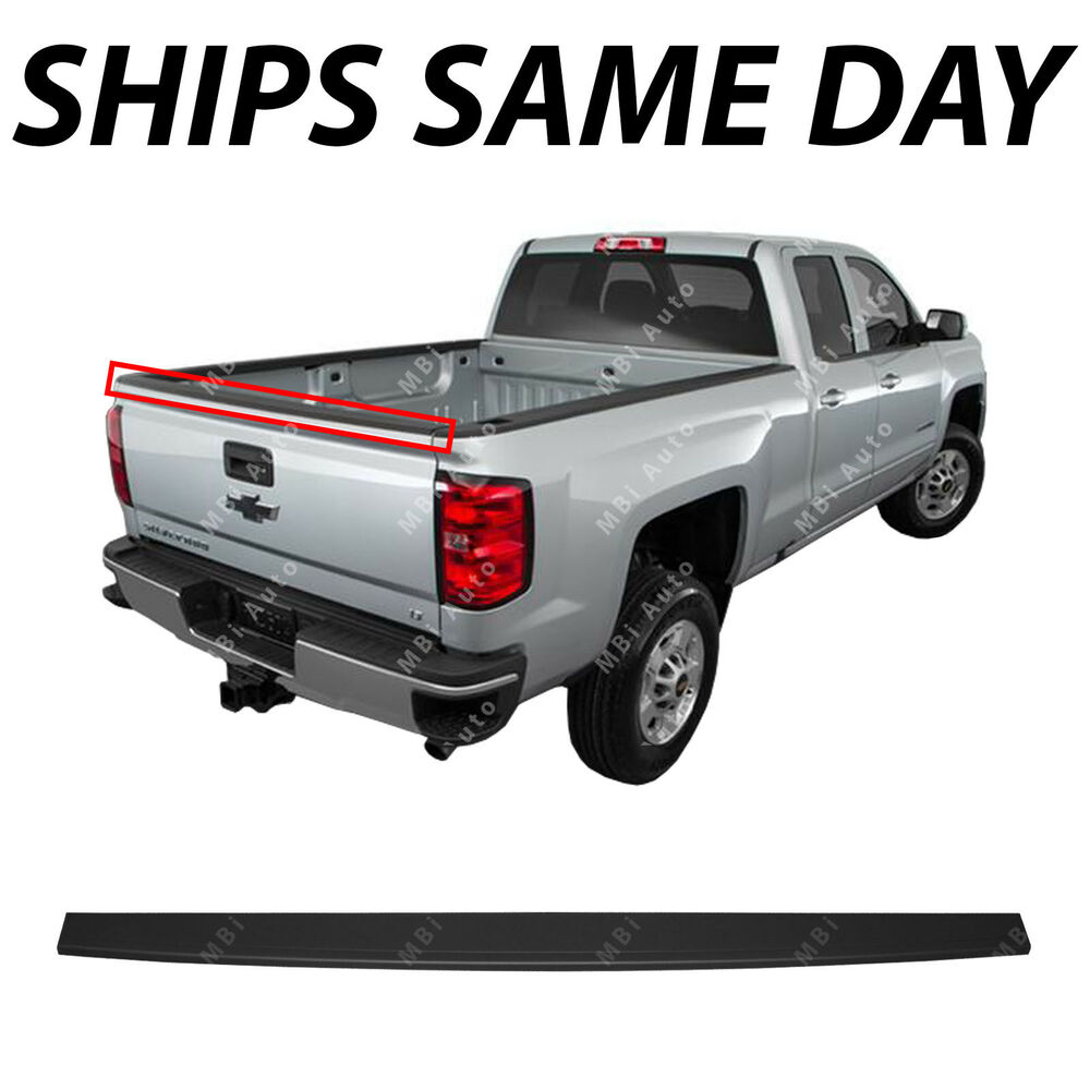 medium resolution of details about new tailgate top protector molding for 2014 2019 silverado sierra pickup truck