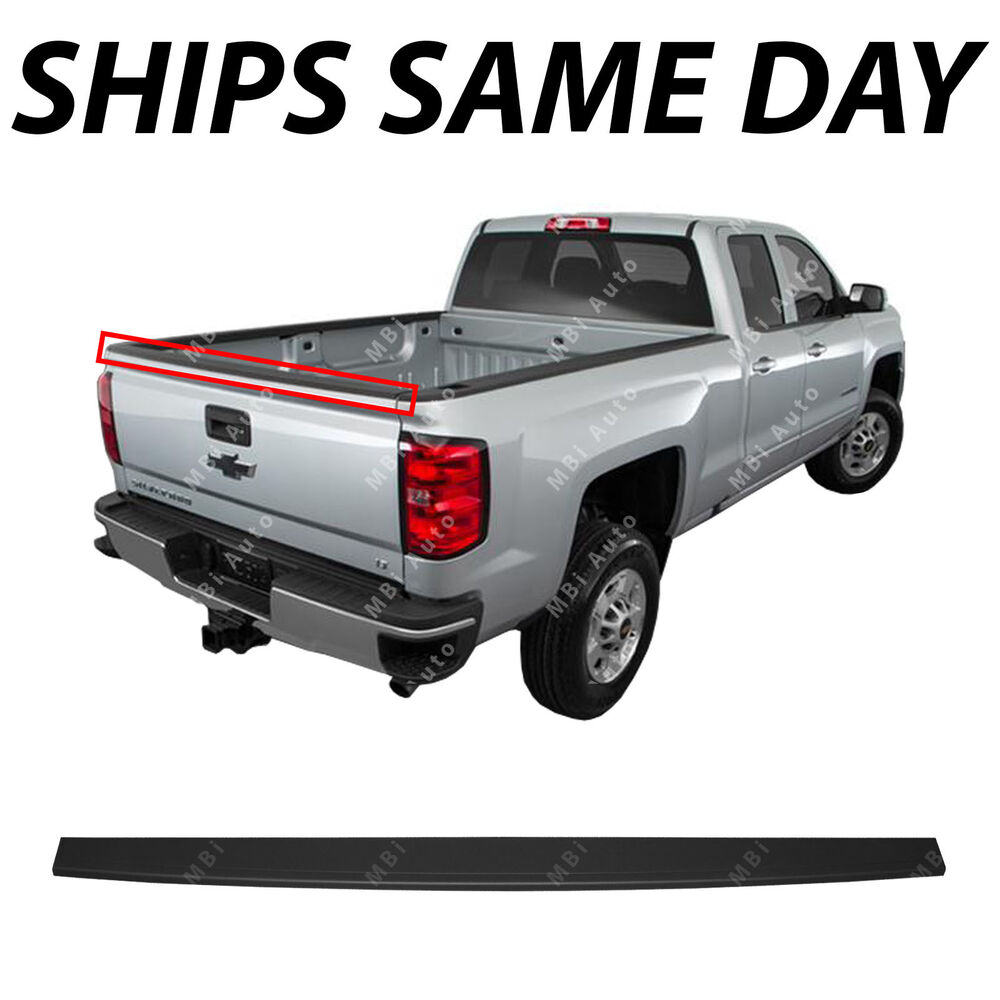 hight resolution of details about new tailgate top protector molding for 2014 2019 silverado sierra pickup truck