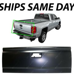 details about new primered steel tailgate shell for 2014 2019 chevy silverado gmc sierra truck [ 1000 x 1000 Pixel ]