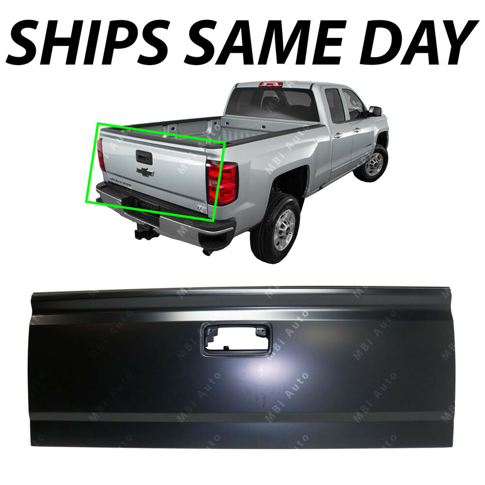 medium resolution of details about new primered steel tailgate shell for 2014 2019 chevy silverado gmc sierra truck