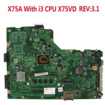 Asus X75a Motherboard With I3 Cpu 60-nd0mb1700 X75vd