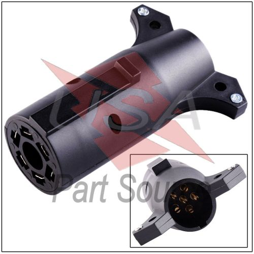 small resolution of details about trailer light connector 7 pin to 6 adapter 7 way rv blade to 6 way round