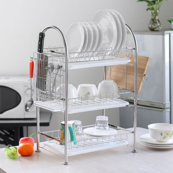 Nex Dish Rack 3-tier Stainless Steel Drainer Free Shipping