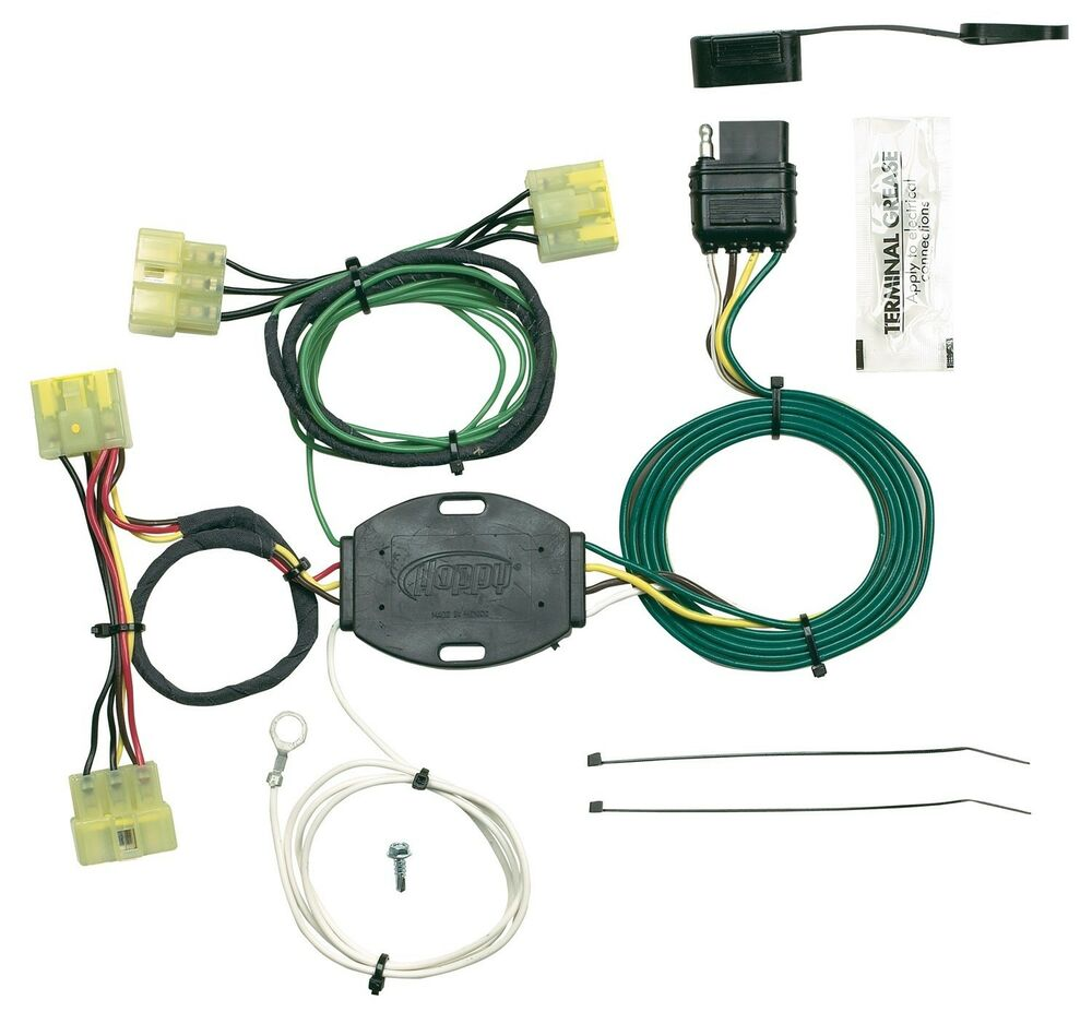 hight resolution of details about trailer wiring harness plug play fits 98 02 kia sportage 43915