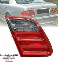 details about new left trunk lid tail light lamp for mercedes benz w210 e320 e430 e55 2000 02 [ 1000 x 1000 Pixel ]