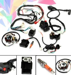 details about full electrical wiring harness kit f chinese dirt bike atv quad 150 250 300cc [ 1000 x 1000 Pixel ]