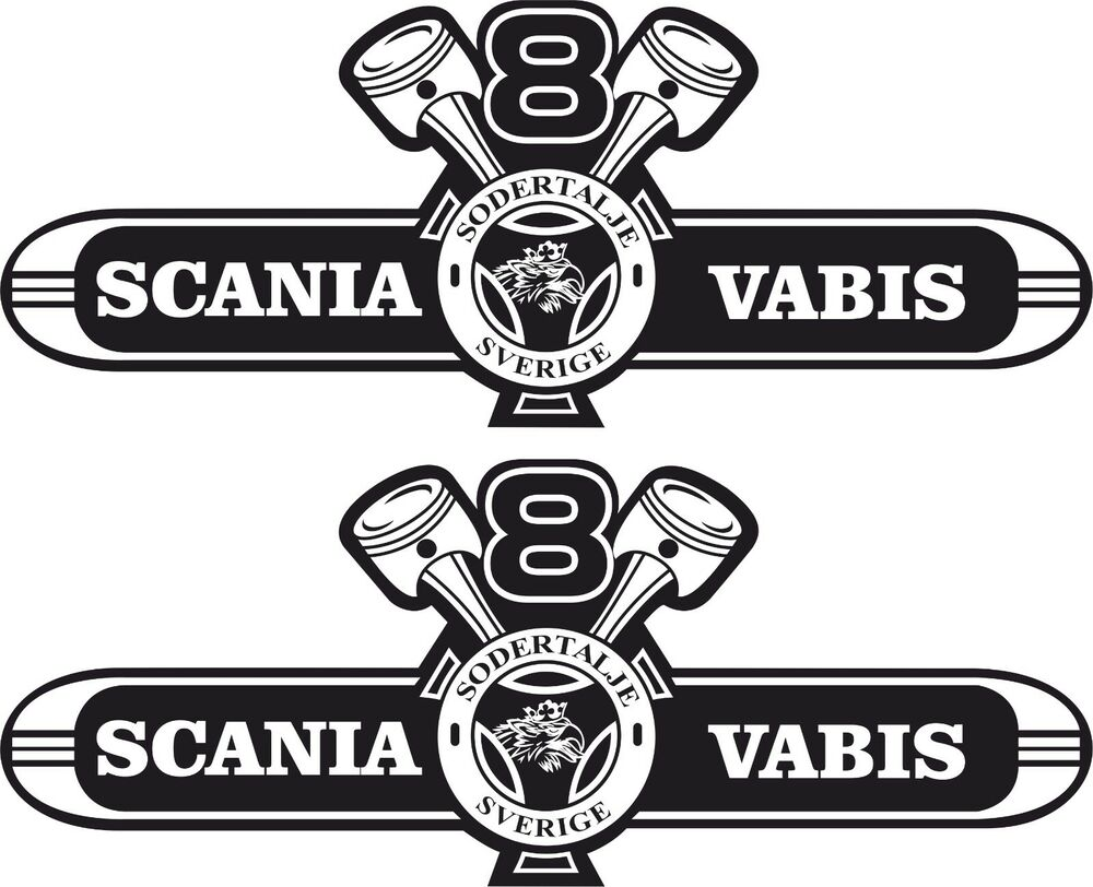 Scania V8 Vabis big Roof Decals Stickers any colour
