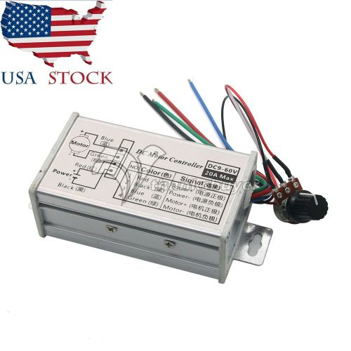 small resolution of pwm dc motor stepless variable speed controller switch 12v 24v max 20a us ebay