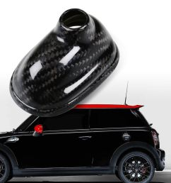 details about real carbon antenna base cover for mini cooper r55 r56 r57 no gps model [ 1000 x 1000 Pixel ]