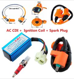 details about 6 pin racing ac cdi ignition coil spark plug for gy6 50cc 150cc scooter atv [ 1000 x 1000 Pixel ]