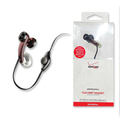 small resolution of details about flex grip universal earbud phone headset plantronics mx200 2 5mm 3 5mm black ln