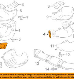 details about subaru oem 09 13 forester exhaust manifold cross over pipe gasket 44011fa020 [ 1000 x 798 Pixel ]