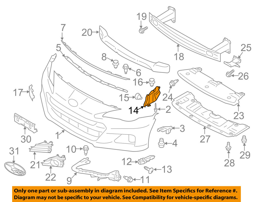 hight resolution of details about subaru oem 13 16 brz front bumper duct right 57746ca020