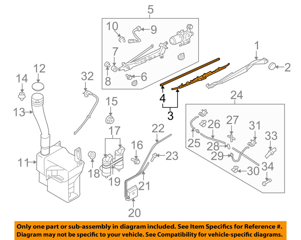 hight resolution of details about subaru oem 06 07 b9 tribeca wiper arm front blade 86542xa07a