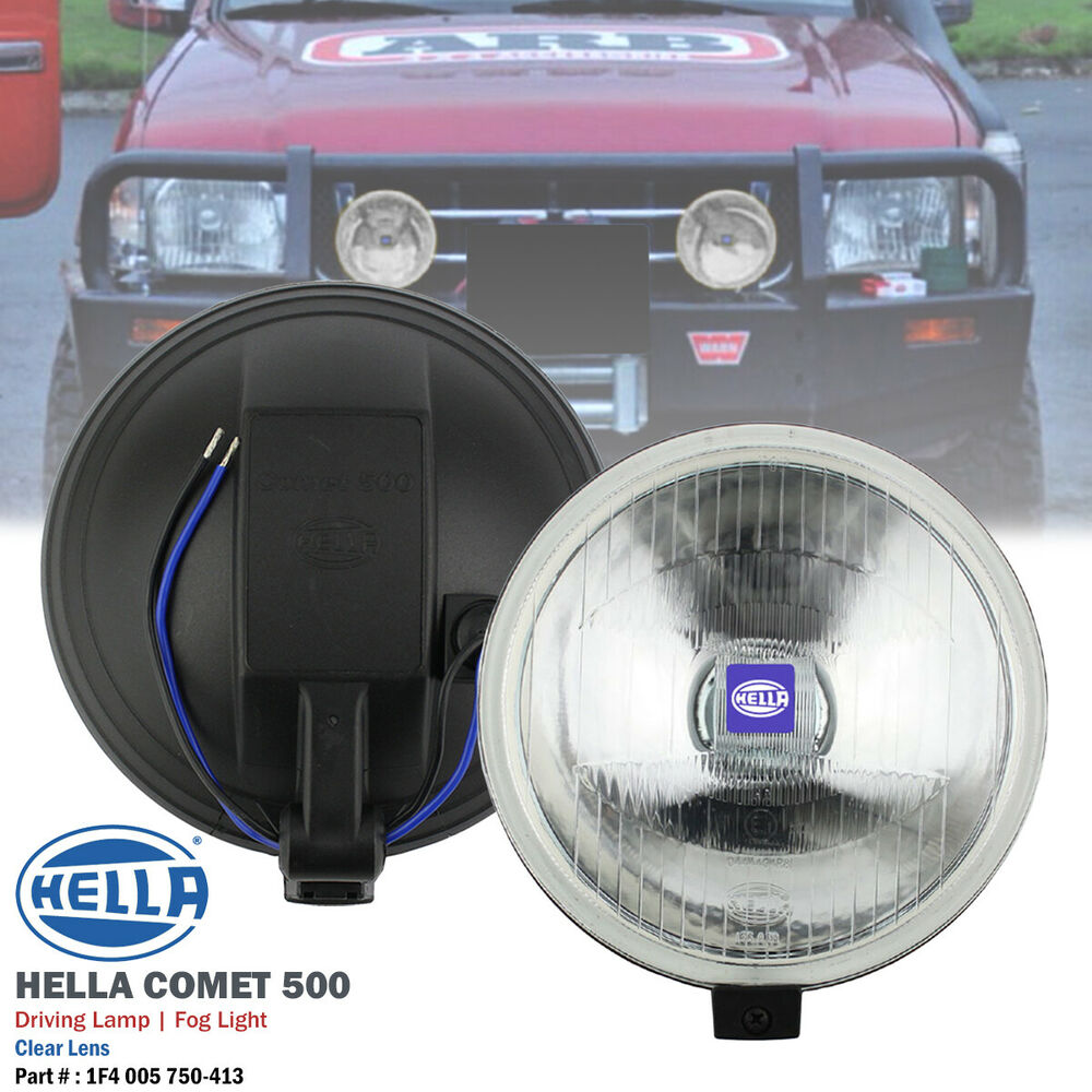 medium resolution of details about 2pcs 12v h3 hella comet 500 clear round driving spot fog light lamp universal