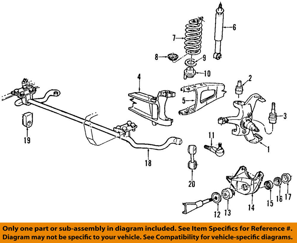 hight resolution of ford oem 92 96 f 150 front suspension mounting bracket e1tz3b095b ebay 2005 ford f150 4x4 front suspension diagram 2005 ford f 150 front suspension diagram